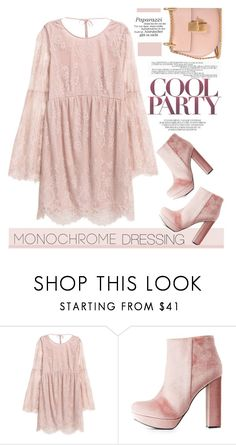 """""""Monochrome"""" by streetglamour ❤ liked on Polyvore featuring Charlotte Russe and Chloé"""