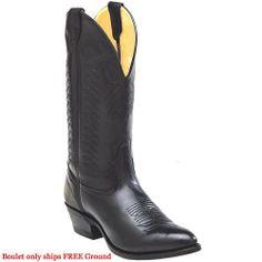 9502 Boulet Men's Cowboy Western Boots - Black