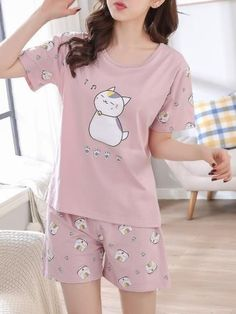 Night Suit For Girl, Girls Night Dress, Night Dress For Women, Pajama Outfits, Girl Outfits, Girls Fashion Clothes, Fashion Outfits, Cute Pajama Sets, Cute Sleepwear