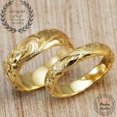 Hey, I found this really awesome Etsy listing at https://www.etsy.com/listing/242369956/14k-gold-hawaiian-jewelry-wedding-band