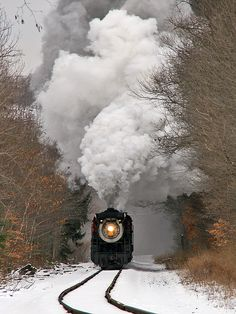 "Ice Train '08 by Bo Gray on Flickr. ""Steamtown's ""Ice Train"" excursion blasts through Elmhurst, PA on its way to Tobyhanna on a chilly Saturday."""