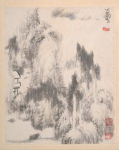 Bada Shanren山水十二册页