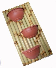 While common in most Asian homes that have enough land surrounding it, bamboo garden are not something that you usually hear about in the American home. Bamboo Poles, Bamboo Art, Bamboo Crafts, Bamboo Garden, Faux Bamboo, Bamboo Building, Bahay Kubo, Small Balcony Garden, Handmade Crafts