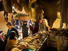 Suq, Marrakech Photograph by Atlantide Phototravel/Getty Images; goods made by Berber, Tuareg, Dogon communities Fantasy Inspiration, Travel Inspiration, Marrakech Souk, World Thinking Day, Traditional Market, Cheap Holiday, Morocco Travel, World Images, Beach Town