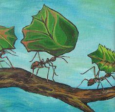 Νηπιαγωγός για πάντα....: Προσεγγίζοντας την Τέχνη Διαθεματικά: Έντομα (Α΄Μέρος) English Language Learning, Painting, School, Art, Insects, Studying, Art Background, Painting Art, Kunst
