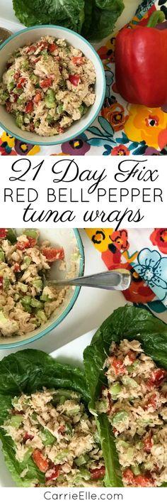 21 Day Fix Tuna Wraps