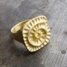 Golden Ethnic Ring by AmorGoldsmith on Etsy