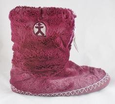 29938254a23969 Marilyn - Classic Faux Fur Slipper Boots - Plum from Bedroom Athletics. Slipper  Boots