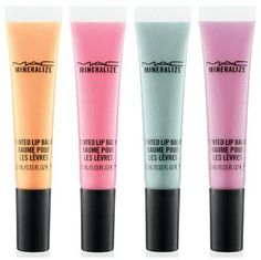 MAC's new cupcake-inspired beauty line. These lip balms look like candy!