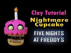 Nightmare Cupcake Fnaf 4 Porcelana fria/ Polymer Clay Tutorial