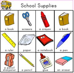 ... School Supplies on Pinterest | School supplies, Worksheets and