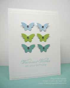 Bitty Butterfly, Blooming with Kindness, Bashful Blue, Certainly Celery, Baja Breeze - by Dawn Olchefske