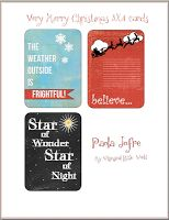 Very Merry Christmas 3x4 Cards created by Paola Jofre at My Whimsical Little World Studio  Free for a limited time