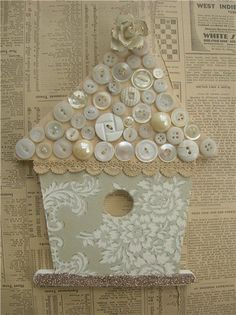 Button bird house