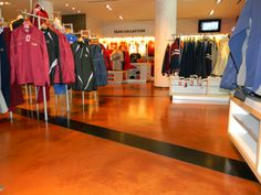 Lumiere reflective designer epoxy coatings in Cleveland Cavaliers' Pro Shop, Cleveland, OH