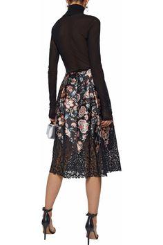 SACHIN & BABI Floral-print midi skirt