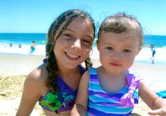 My two granddaughters on the beach in OC, MD. July 2014