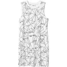 Monki Elvi dress (€20) ❤ liked on Polyvore featuring dresses, tops, vestidos, shirts, jersey dress, mixed print dress, print dress, pattern dress and monki