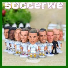 "14PCS + Display Box Soccer Real Madrid Player Star Figurine 2.5"" Action Doll Classic version The fans GIFT"