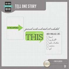 Quality DigiScrap Freebies: Tell One Story word art freebie from The Edits