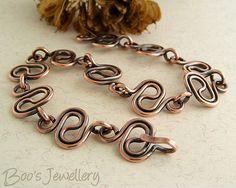 Antiqued copper squiggle link bracelet - 23237f | Continuing… | Flickr