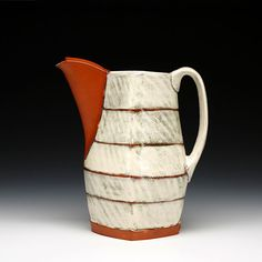 Marty Fielding Pitcher earthenware w/ glaze (fired w/ green electricity) 9 x7.5 x 5 inches