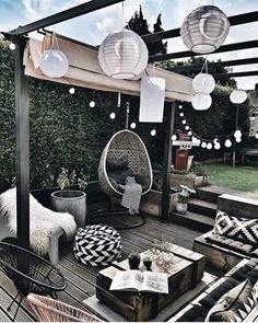 patio ideas on a budget ; patio ideas on a budget backyard ; patio ideas on a budget diy ; patio ideas on a budget pavers Outdoor Spaces, Outdoor Living, Outdoor Decor, Outdoor Seating, Garden Seating, Rooftop Decor, Outdoor Balcony, Backyard Seating, Outdoor Patios