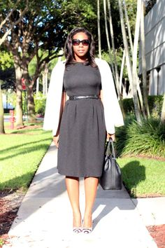 "Black Dress + White Blazer ""Statement Making"""
