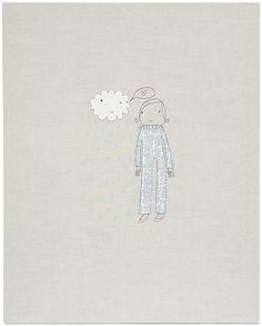 girl with cloud 32x40 wall art    kstudiohome.com