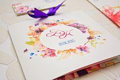 Akwarelove zaproszenia ślubne kolorowe Artirea