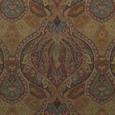 Old Brampton Paisley - Copper - Paisley - Fabric - Products - Ralph Lauren Home - RalphLaurenHome.com