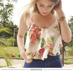 Cropped estampado #moda #look #outfit #shop #loja #compreonline #gatabakana…