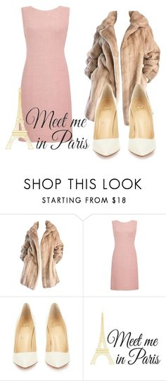 """""""Gabi Demartino look"""" by oliviacherchio ❤ liked on Polyvore featuring beauty, Lilli Ann, Christian Louboutin and Brewster Home Fashions"""