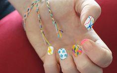 Multicoloured nail art Multicoloured Nails, Ghetto Nails, Nail Art Pen, Nail Colors, Product Launch, Nail Colour