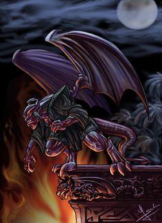 My favorite Gargoyle by *Evolvana on deviantART