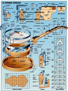 plans concert pineapple fan braced ukulele ukelele 4 conductor with gibson les paul wiring diagram #12