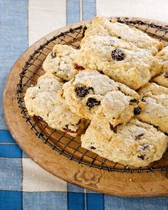 Cherry & Oats Scones courtesy of Miss Martha. Reminds me of Starbucks scones...
