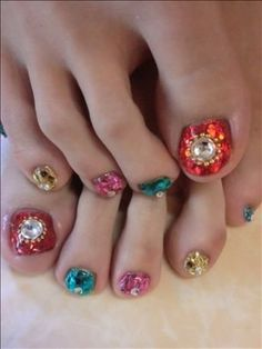 I am showcasing wedding toe nail art designs & ideas of I hope you would love the collection. All the salons that are dedicated to bridal makeups and grooming can look at these as inspiration and try them on bride's toe nails. Pedicure Nail Art, Pedicure Designs, Toe Nail Designs, Toe Nail Art, Pedicure Ideas, Mani Pedi, Nail Ideas, Makeup Ideas, Wedding Toe Nails
