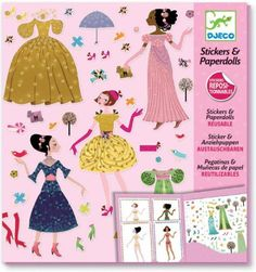 Djeco Stickers And Paper Dolls - Dresses Through The Seasons