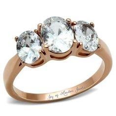 3.9CT Perfect 14K Gold Three Stone Journey Russian Lab Diamond Promise Engagement Anniversary Wedding Ring