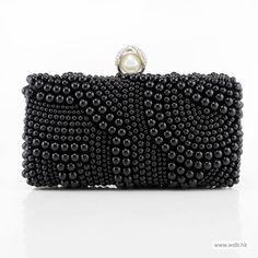 dream wedding Elegant Pearl Encrusted Clutch. bag