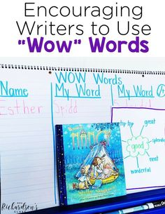 These four practical and easy to implement tips will help you encourage your students to include wow words in their writing, making them stronger writers. Writing Traits, Writing Strategies, Writing Skills, Writing Ideas, Narrative Writing, Teaching Poetry, Teaching Writing, Writing Activities, Teaching Ideas