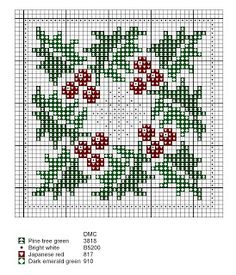 Free Cross Stitch Pattern - Holly and Snowflake