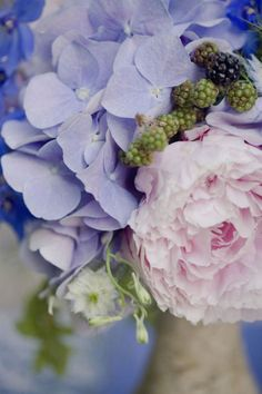Love hydrangea and peonies together