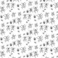 Beetle-Bug Brigade by imaginaryanimal on Spoonflower
