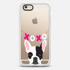 French Bulldog gifts - protective iPhone 6 phone case in Clear and Clear by  by Pet Friendly | Dogs leave paw prints in your heart! Click to see more French Bulldog phone case designs  >>> https://www.casetify.com/search?keyword=french+bulldog# | @Casetify