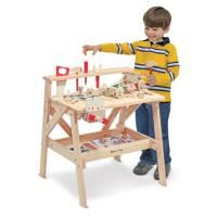 Buy Melissa & Doug Wooden Project Workbench from BrightMinds. Leading UK Online Educational Kids Gifts and Childrens Toy Shop for Melissa & Doug Wooden Project Workbench Workbench Plans Diy, Workbench Top, Folding Workbench, Workbench Organization, Workbench Designs, Industrial Workbench, Toddler Workbench, Woodworking Workbench, Toys For Little Kids
