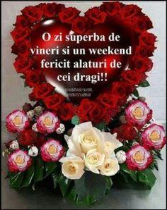 Vineri week-end! Ornament Wreath, Christmas Wreaths, Floral Wreath, Holiday Decor, Birthday, Saints, Valentines, Floral Crown, Birthdays