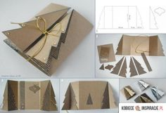 DIY Paper Cardboard Christmas Tree Greeting Card: Make a Handmade Christmas Greeting Card from free template and fold front into Christmas Tree. Homemade Christmas Cards, Christmas Greeting Cards, Christmas Greetings, Simple Christmas, Handmade Christmas, Holiday Cards, Christmas Diy, 3d Christmas Tree Card, Christmas Postcards