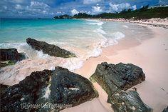 Pink sand at Horseshoe Bay, Bermuda